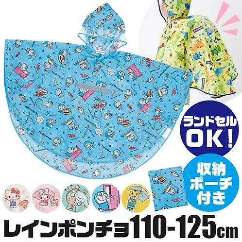 (預訂) Skater 卡通人物高撥水性兒童斗篷款雨衣110〜125cm