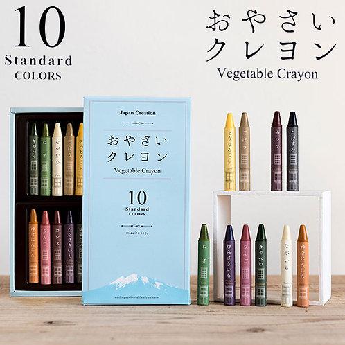 (預訂) 日本製 Mizuiro Vegetable Crayon 無毒環保蔬菜兒童蠟筆