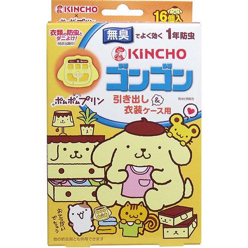 (預訂) 日本製 KINCHO 布甸狗 衣物防蟲片 1盒16片