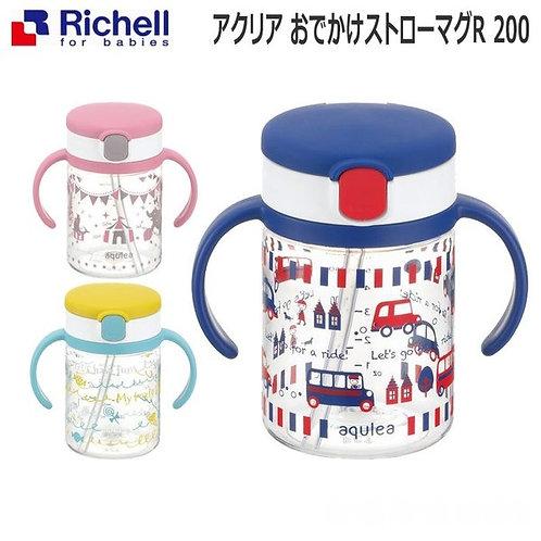 (現貨) Richell 吸管式學習飲水杯  (2019年款) 200ml