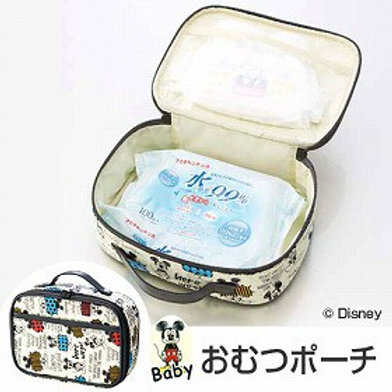 (預訂) Skater Disney Mickey 不織布質地尿片紙巾便攜收納袋 (尿片袋) 250675