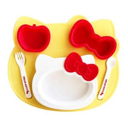 日本製 Hello Kitty Sanrio 餐具餐碟餐盤套裝 (附叉匙) 121234