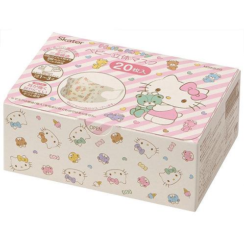 (現貨) Skater Hello Kitty 兒童立體口罩20個裝  (1-3歲用)