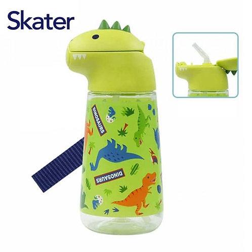 (現貨) Skater Dinosaurs 立體恐龍頭吸管水樽 420ml