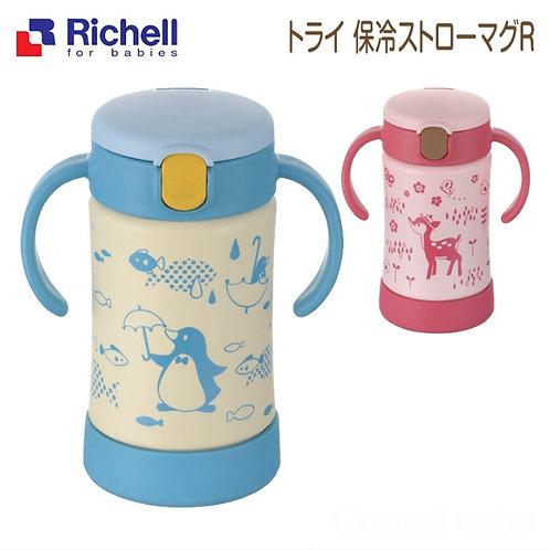 (現貨) Richell 手柄不鏽鋼魔法保冷學習杯 300ml
