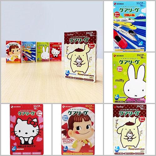 (預訂) 日本製 Nichiban 卡通人物急救藥水膠布16枚 (Junior Size)