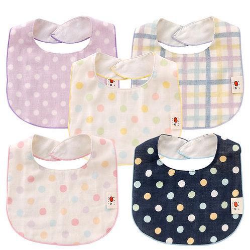 日本製 Nishiki Wafu 系列純棉紗巾質地 口水肩