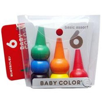 日本製 Baby Color (Aozora) 無毒無害積木蠟筆 6色 (2歳以上)  201017