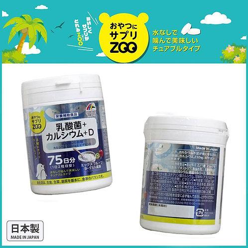 (預訂) 日本製 UNIMAT RIKEN ZOO 咀嚼片 乳酸菌+ 鈣 + D 150粒 672892
