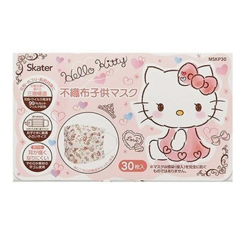 Skater Sanrio Hello Kitty 兒童口罩30個裝 (4歲以上用) 434242