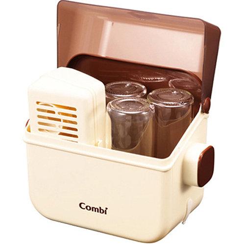 (現貨) 日本製 Combi 5分鐘微波爐奶瓶奶具奶咀消毒盒 (米白色)