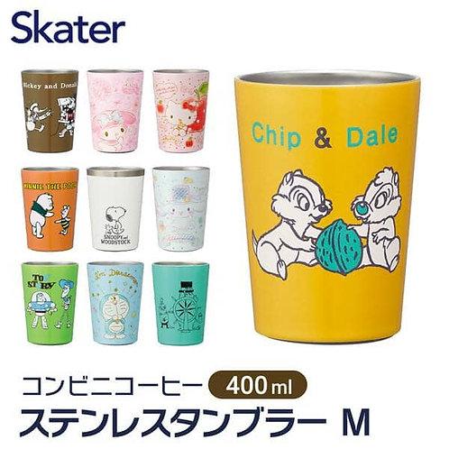 (預訂) Skater 不銹鋼保冷保溫真空二層構造隨身杯 400ml(M Size)