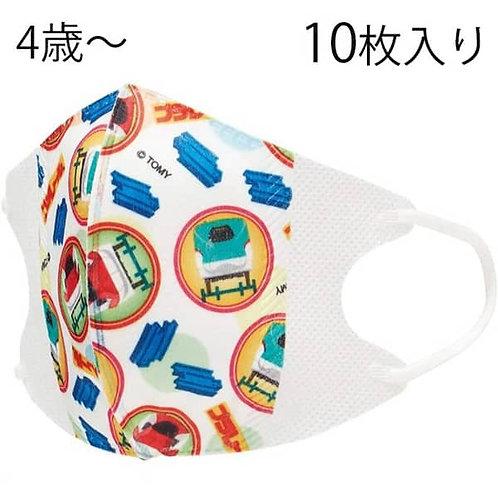 (現貨) Skater Plarail 新幹線兒童立體口罩10個裝 (4歲以上用)