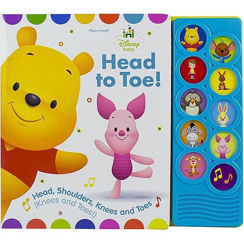 Disney Baby Winnie the Pooh - Head to Toe 10-Button Sound Book 發聲硬皮書
