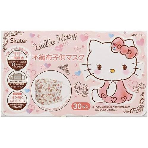 (現貨) Skater Sanrio Hello Kitty 兒童口罩30個裝 (4歲以上用) (14.5cm x 90cm)