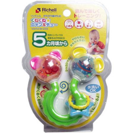 (預訂) Richell 動物組合搖鈴牙膠 (5個月起用) 937532