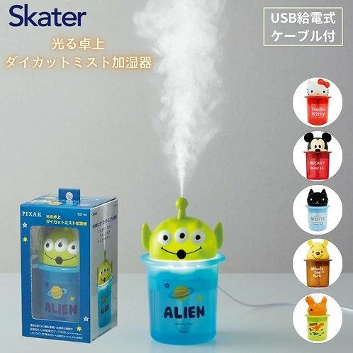 (預訂) Skater 卡通人物發光超聲波薄霧USB加濕器