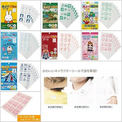 (預訂) 日本製 Skater 卡通人物尤加利油驅蚊貼72枚入
