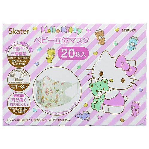 Skater Sanrio Hello Kitty 兒童口罩 20個裝  (1-3歲用) 434211