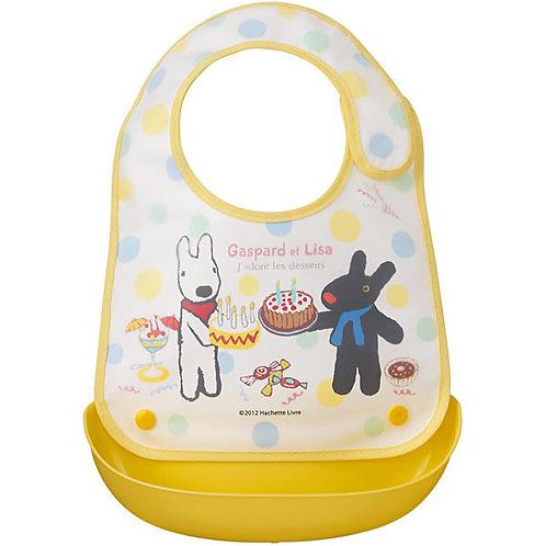 日本製 OSK Gaspard et Lisa 嬰兒兩用口水肩圍兜飯衣088025
