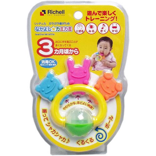 Richell 動物組合搖鈴牙膠 (3個月起用) 495407