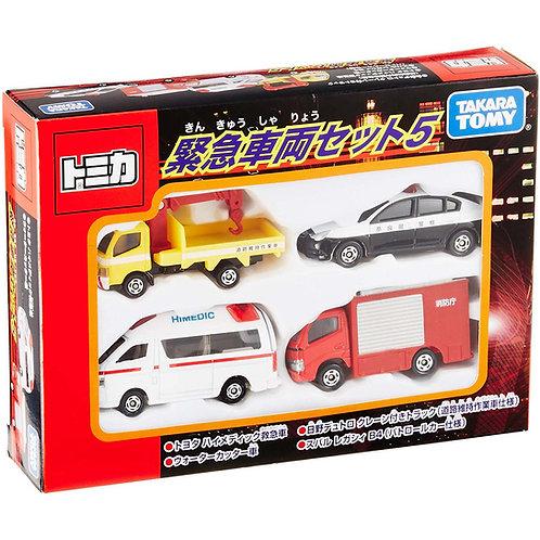Takara Tomy Tomica 緊急車輛玩具車套裝 486527
