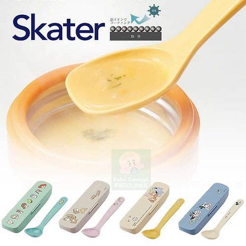 (預訂) 日本製 Skater 銀離子抗菌湯匙連收納盒