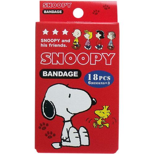 日本製 Snoopy 急救藥水膠布 18枚入 217401