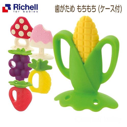 Richell 水果矽膠牙膠 (附收納盒)