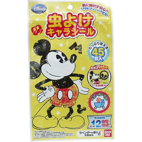 日本製 Bandai Disney Mickey 純天然成分驅蚊貼防蚊貼 45片裝 950468