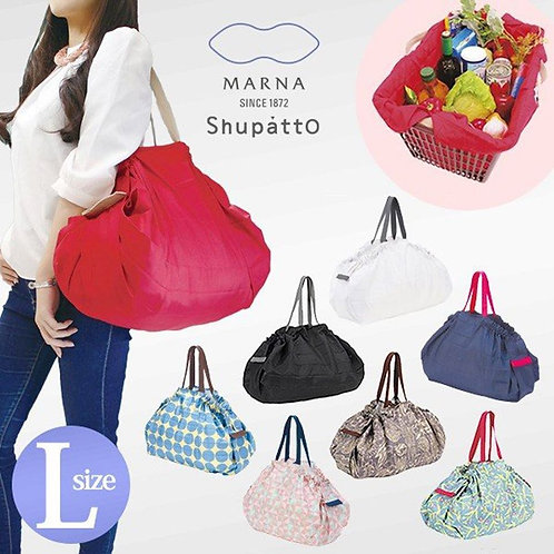 (現貨) 日本 Marna Shupatto Compact Bag 快速收納購物環保袋 L Size