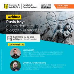 Webinar | Rusia hoy: el presidente, el blogger y la vacuna.