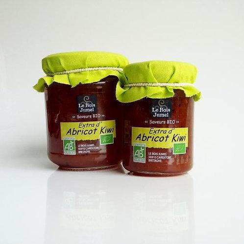 Confiture bio Abricot et Kiwi