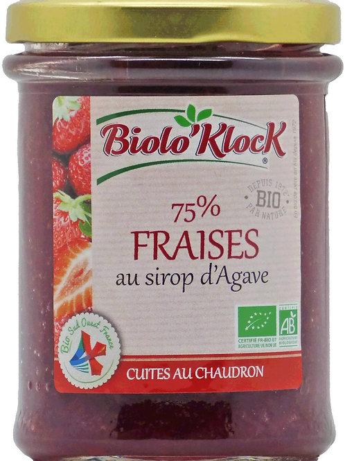 Confiture bio avec 75% fraises