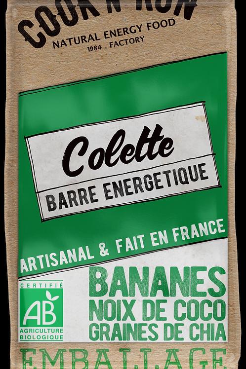 Barre énergétique bio - Bananes et noix de coco