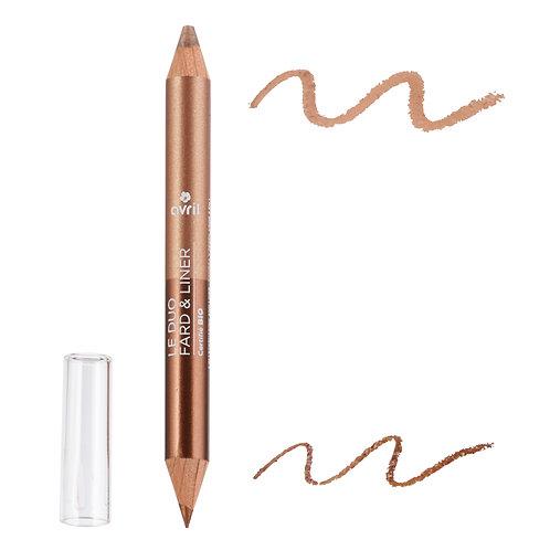 Duo liner bio - Bronze cuivré/Beige doré