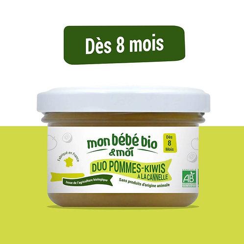 Petit pot bébé bio - Duo pommes et kiwis à la cannelle