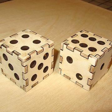 Laser Cut Dice 3D Puzzle