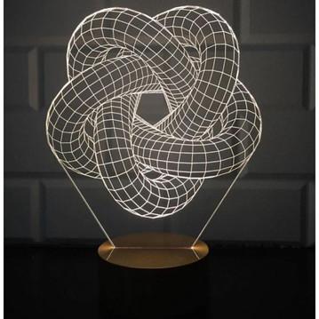 3D Torus Spiral Lamp