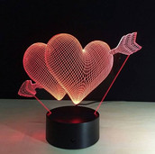 Heart 3D LED Night Light