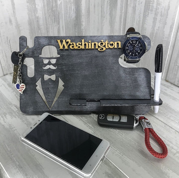 Laser Cut iPhone Watch Charging Docking Station