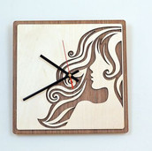Laser Cut Wooden Wall Clock Home Decor