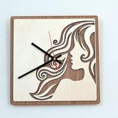 Laser Cut Wooden Wall Clock Home Decor