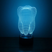 Tooth 3D LED Night Light