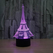 Eiffel Tower Decor 3D LED Night Light