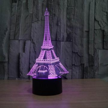 Eiffel Tower Decor 3D LED Night Light
