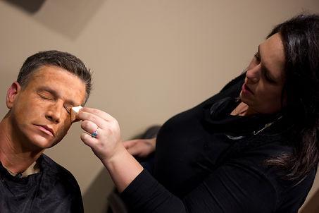 Latex Makeup Applicaton
