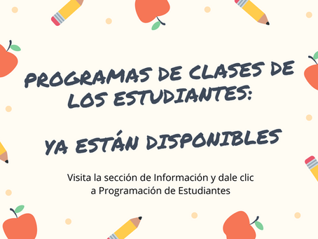 Programas de estudiantes - disponibles