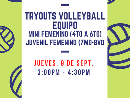Tryouts - Equipos Mini y Juvenil Femenino