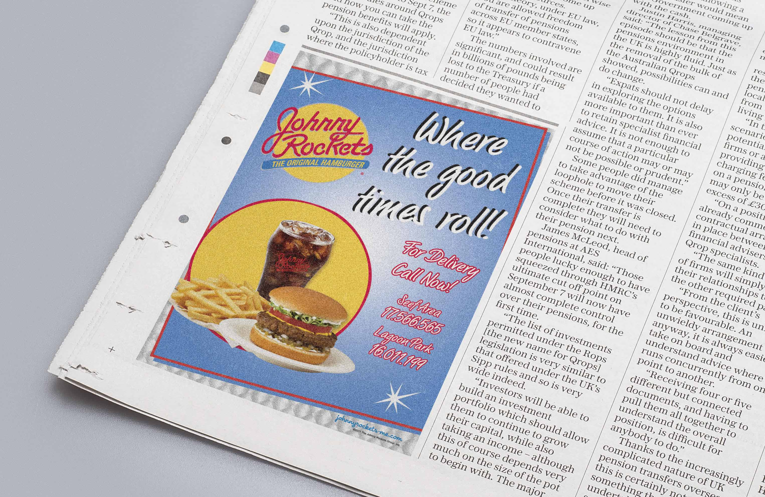 Johnny Rockets Newspaper Ad